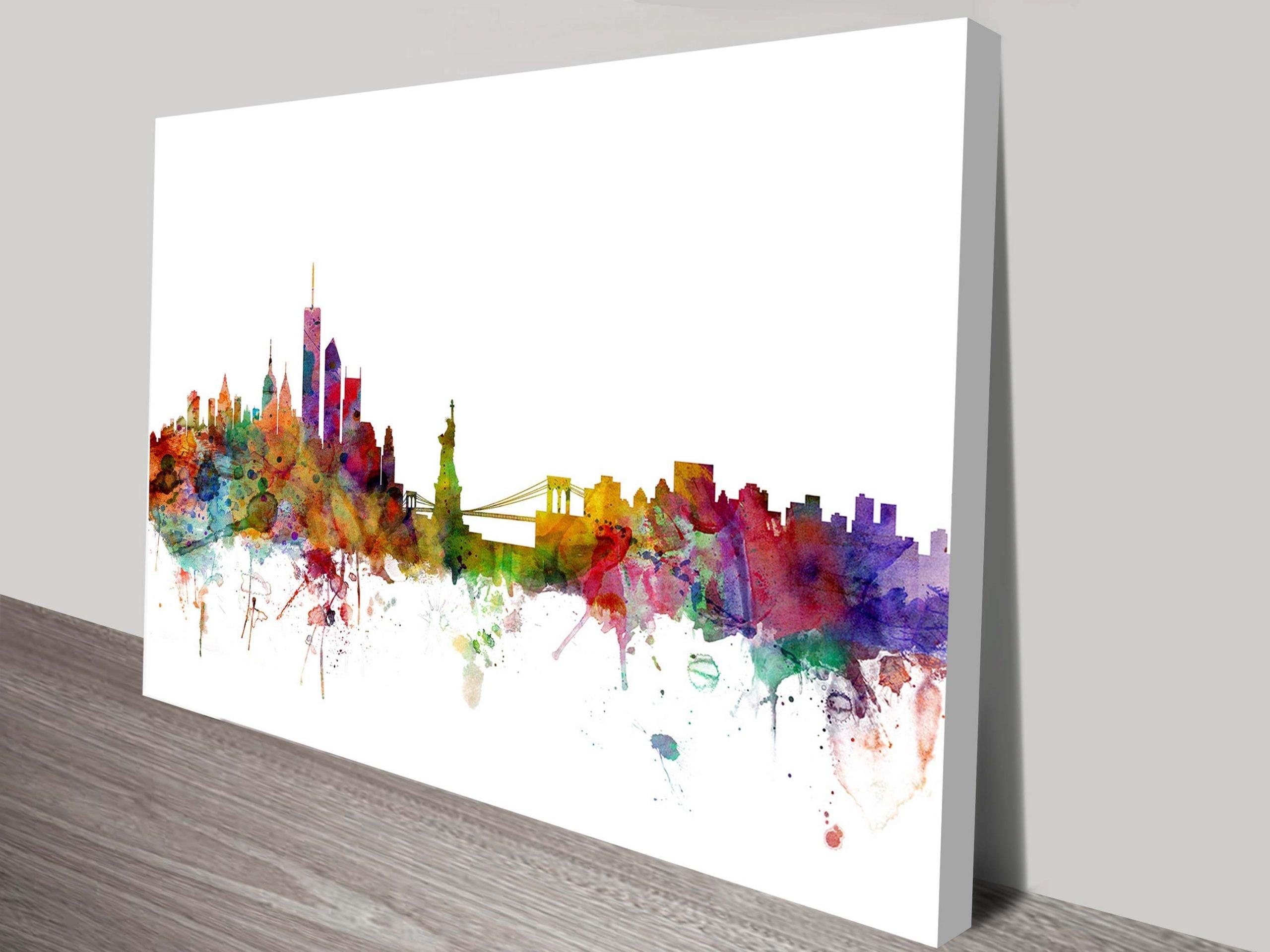 New York-Skyline Print by Michael Tompset