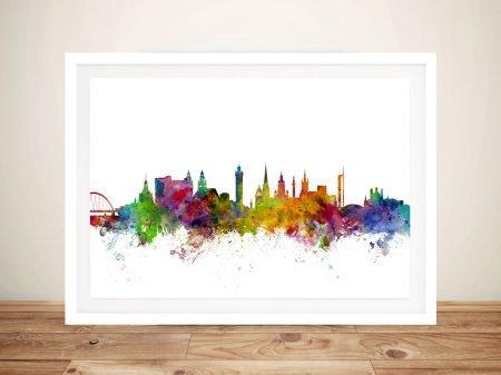 Glasgow Scotland Skyline Framed Wall Art