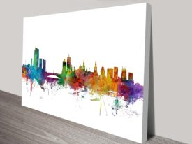 Leeds England Skyline Watercolour Art Print