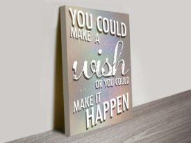 make it happen motivational framed art