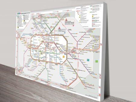 map berlin canvas art print