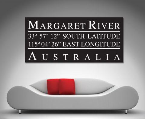 margaret river coordinates canvas art