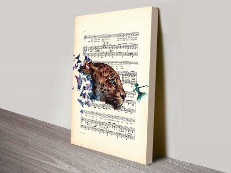 butterflies songsheet vintage art