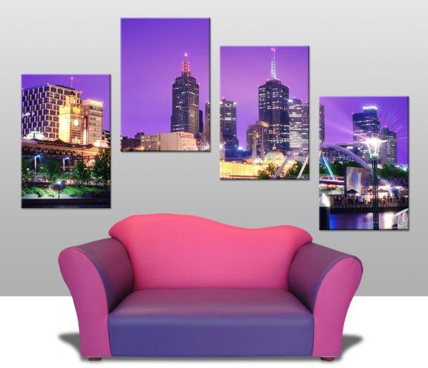 melbourne 4 panel wall prints