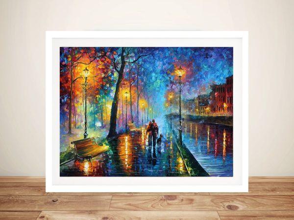 Melody of The Night Leonid Afremov Framed Art Sydney