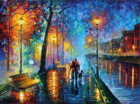 melody of the night Leonid afremov print