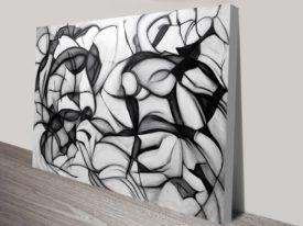 Midnight Frolic Canvas Abstract Wall Art Print