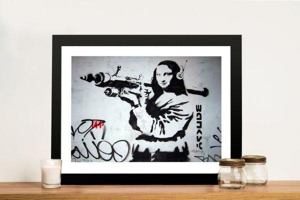 mona bazooka banksy Framed Wall Art Melbourne