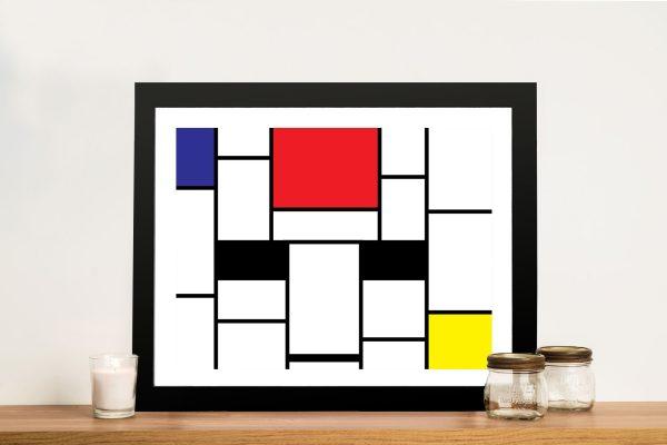 Piet Mondrian Framed Art Pictures Melbourne