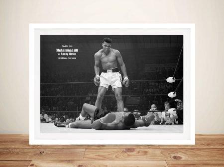 Muhammad Ali Vs Sonny Liston Framed Wall Art