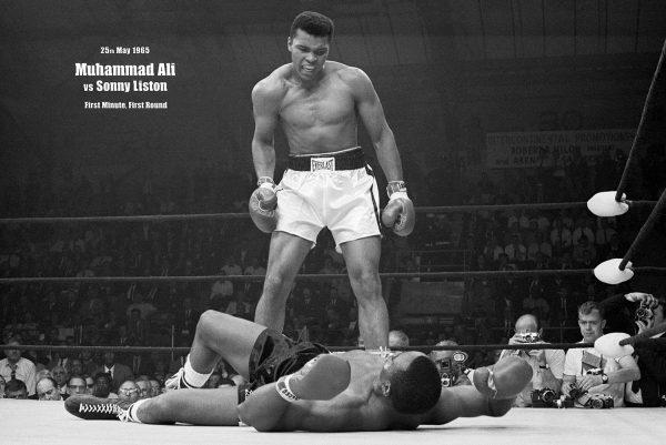Muhammad Ali Vs Sonny Liston Boxing Pop Art