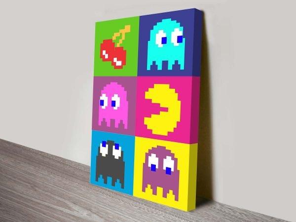 Colourful Pacman Pop Art Canvas Print