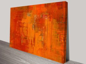 Painted Fire Abstract Canvas Wall Art