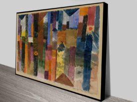 Paul Klee Watercolours photo canvas print