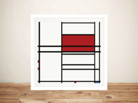 Piet Mondrian Composition of Red and White Painting Print