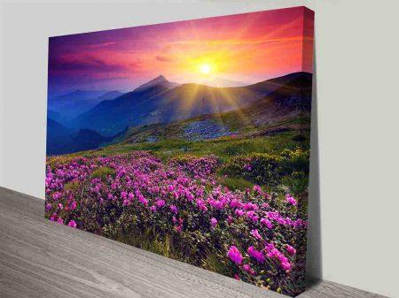 landscape wall art canvas