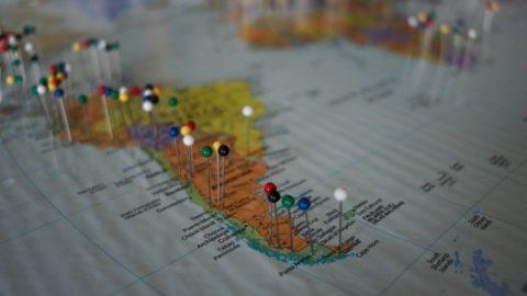 Personalised push pin maps Australia