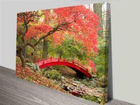 red bridge landscape canvas print