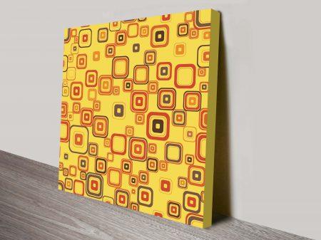 Retro geometric canvas wall art 30