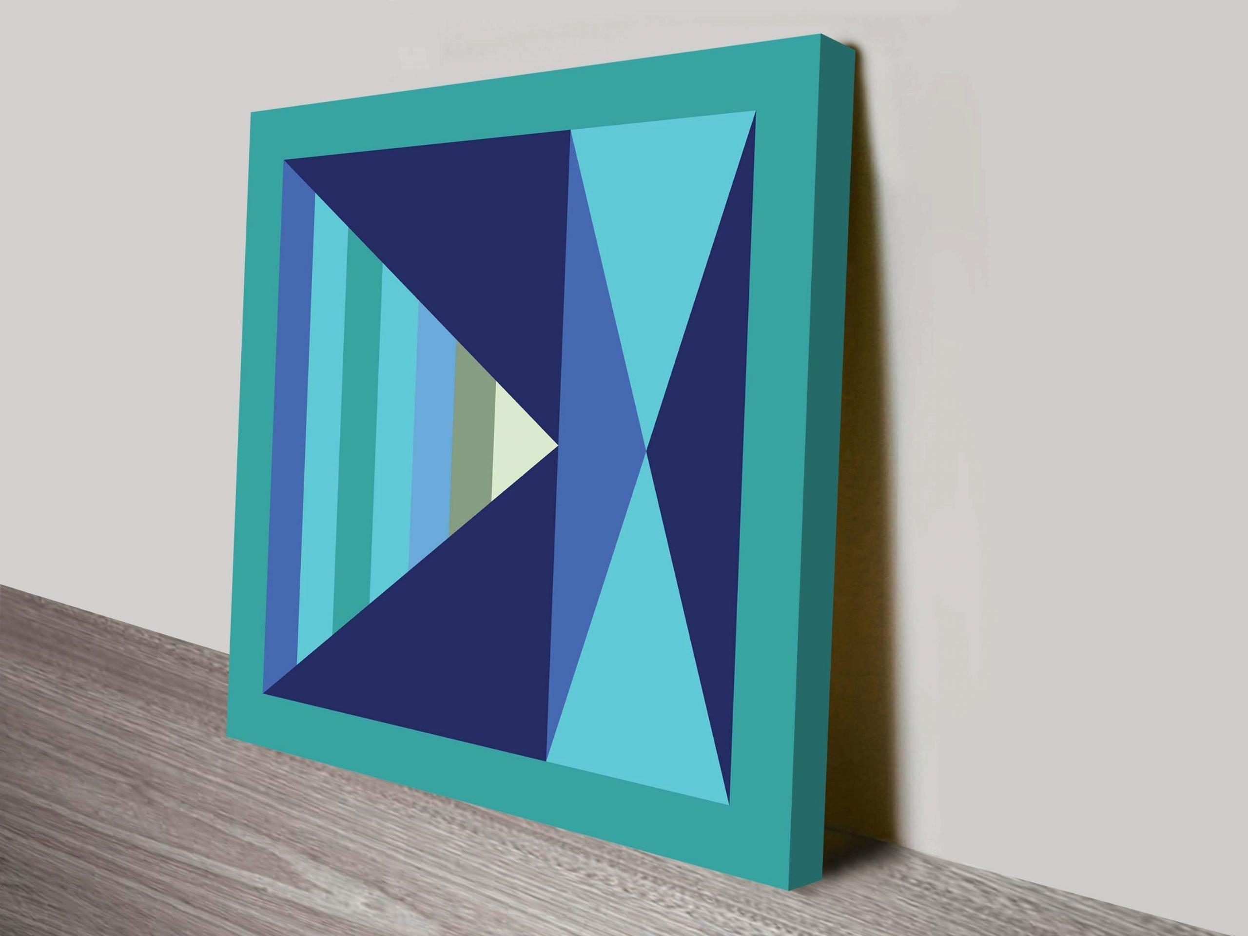 retro geometric canvas wall art for hotels