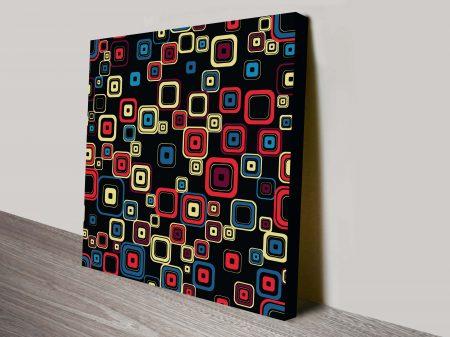 retro geometric canvas wall art 36