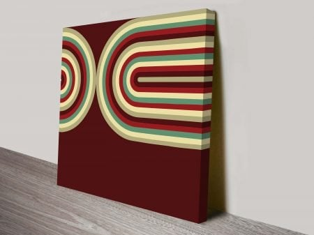 Retro-Geometric-Curves-Brown-Seventies-Inspired-Ready-to-Hang-Wall-Art