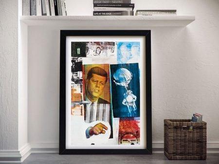 Retroactive ii Robert Rauschenberg Framed Wall Art Print