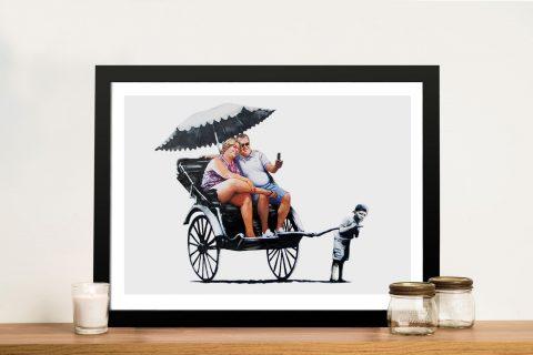 Banksy rickshaw Framed Wall Art Australia