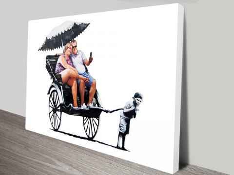rickshaw kid banky canvas