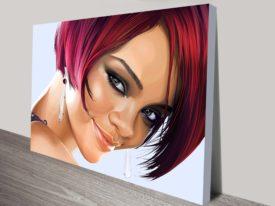 rihanna pop art canvas