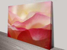 a mountain of roses wall art canvas print