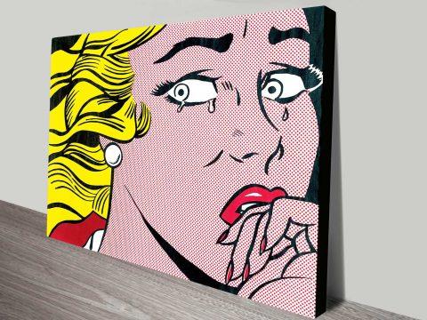 Roy Lichtenstein Crying Girl Vintage Pop Art Print