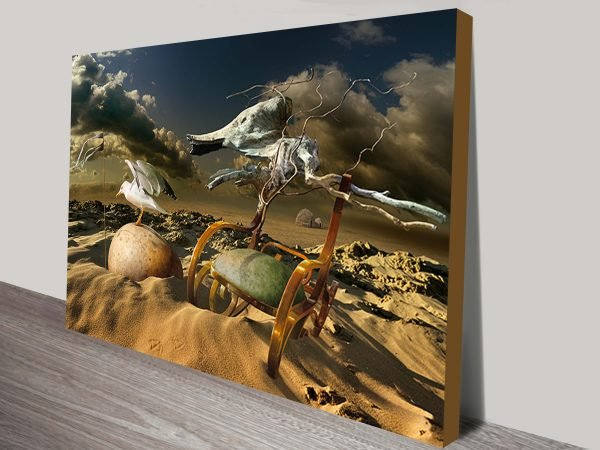 seagull abstract scenary canvas print