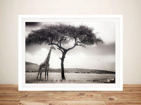 DShaded Giraffe Framed Wall Art Print