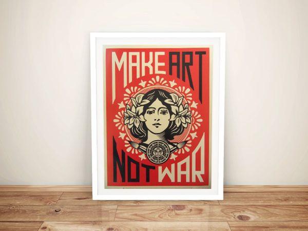 Shepard Fairey Peace girl Framed Wall Art