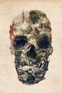 Skull Town by Ali Gulec New Zealand Art Canvas