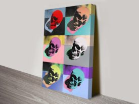 Andy Warhol Skulls Wall Art Modern Print on Canvas