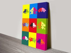 space invaders popart