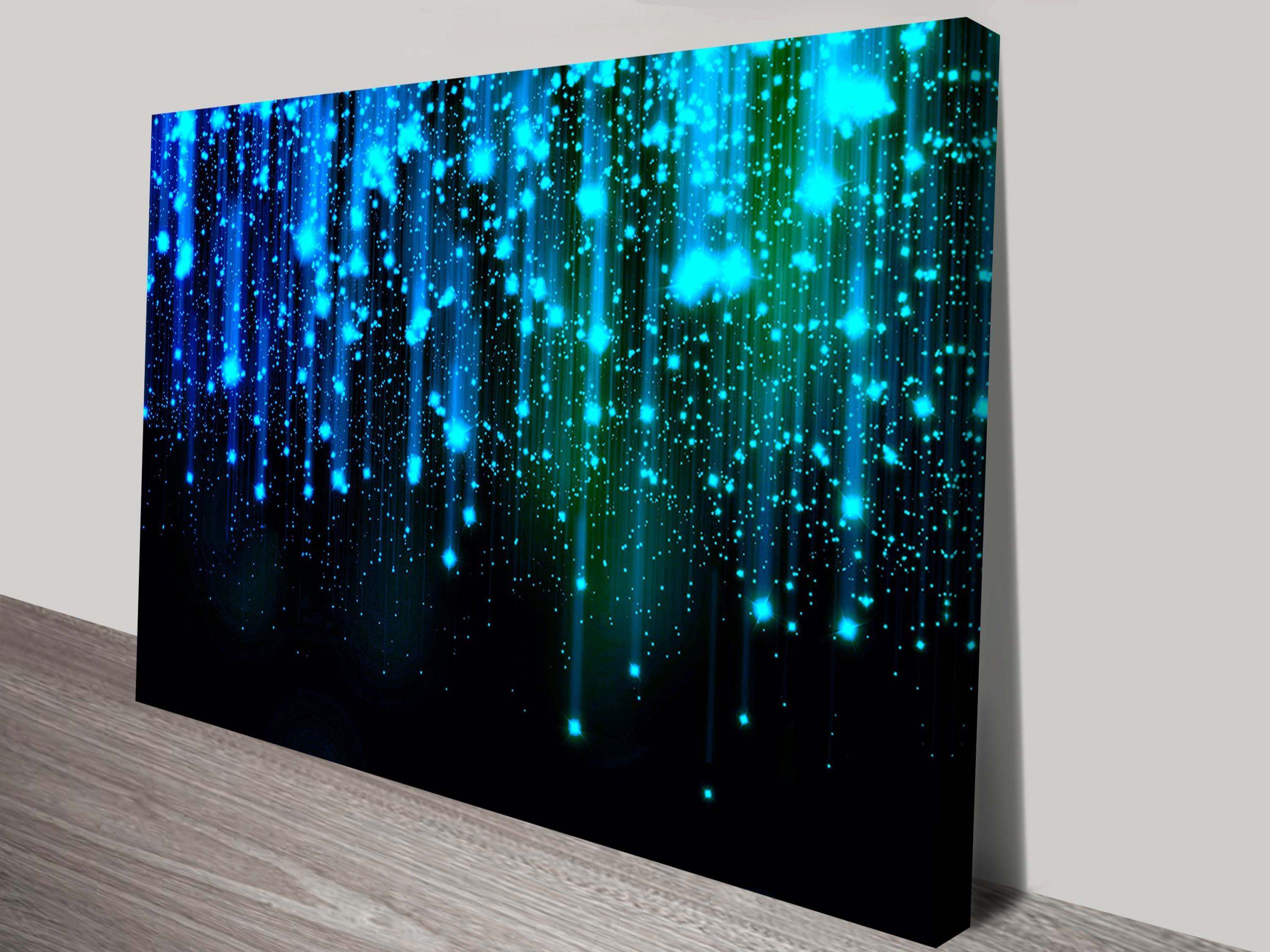 Star Fall Abstract Canvas Wall Art