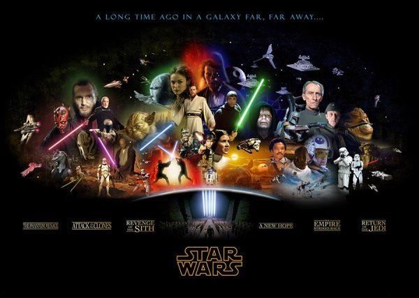 star wars all movies characters wall art