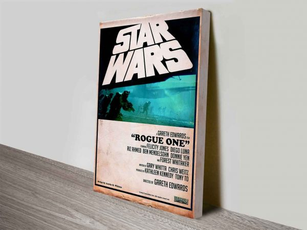 star wars rogue one retro style poster wall art canvas print
