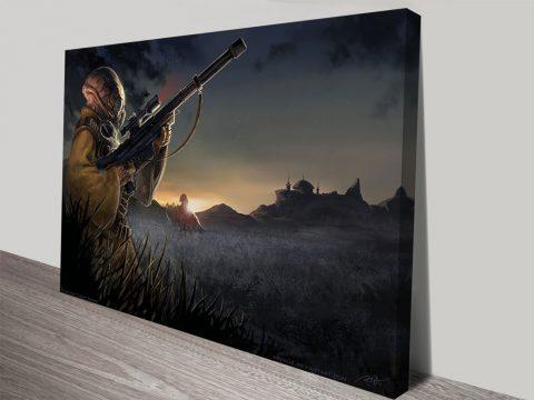 star wars sandman sniper art print