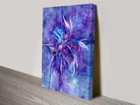 Starburst Water Colour Abstract Canvas Wall Art