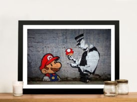 Super Mario Graffiti Street Art Print