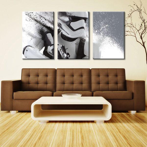 Stormtrooper In Motion Three Piece Artwork Canvas Art Online