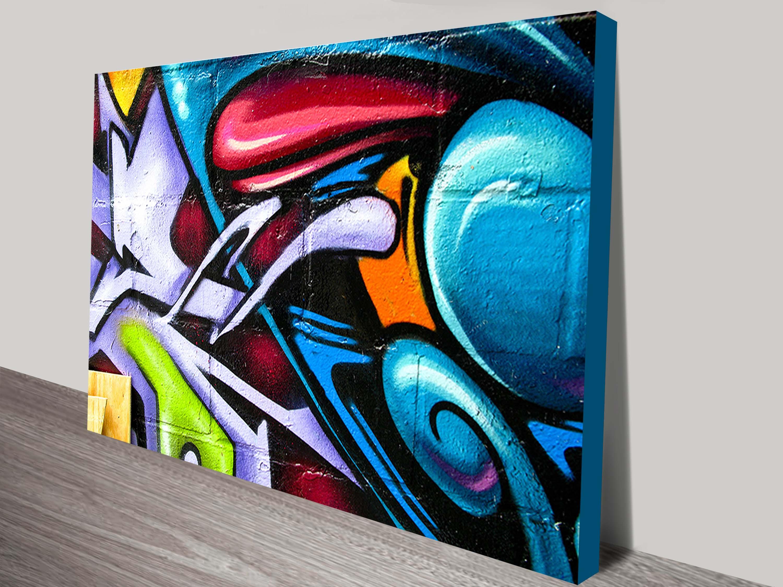 street art abstract canvas print