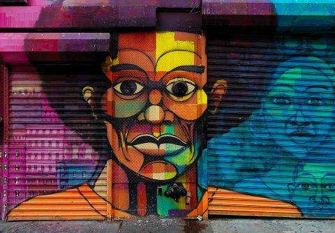 street art on canvas