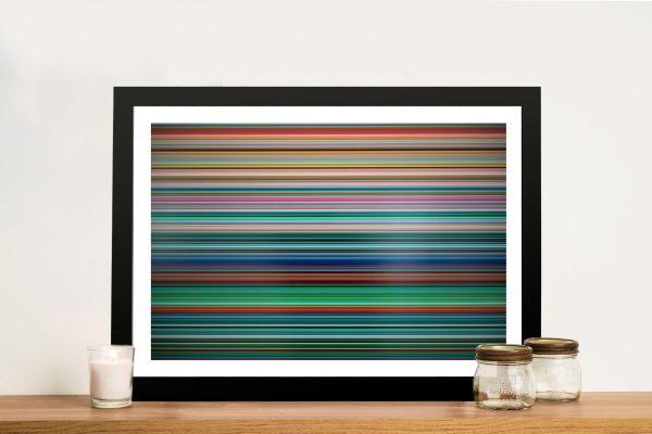 Gerhard Richter Stripes Colourful Home Decor Artwork