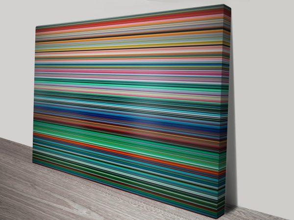stripes Gerhard Richter canvas print