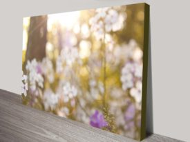 Floral Stretched Canvas Abstract Wall Art Print